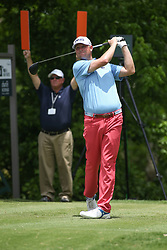 May 25, 2019 - Fort Worth, TX, U.S. - FORT WORTH, TX - MAY 25: Trey Mullinax hits from the 6th tee during the third round of the Charles Schwab Challenge on May 25, 2019 at Colonial Country Club in Fort Worth, TX. (Photo by George Walker/Icon Sportswire) (Credit Image: © George Walker/Icon SMI via ZUMA Press)