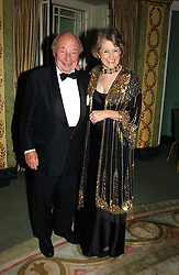 MR & MRS JOHN RITCHIE, he is the father of Guy Ritchie husband of pop star Madonna at the Dyslexia Awards Dinner 2004 held at The Dorchester, Park Lane, London on 2nd November 2004.<br /><br />NON EXCLUSIVE - WORLD RIGHTS