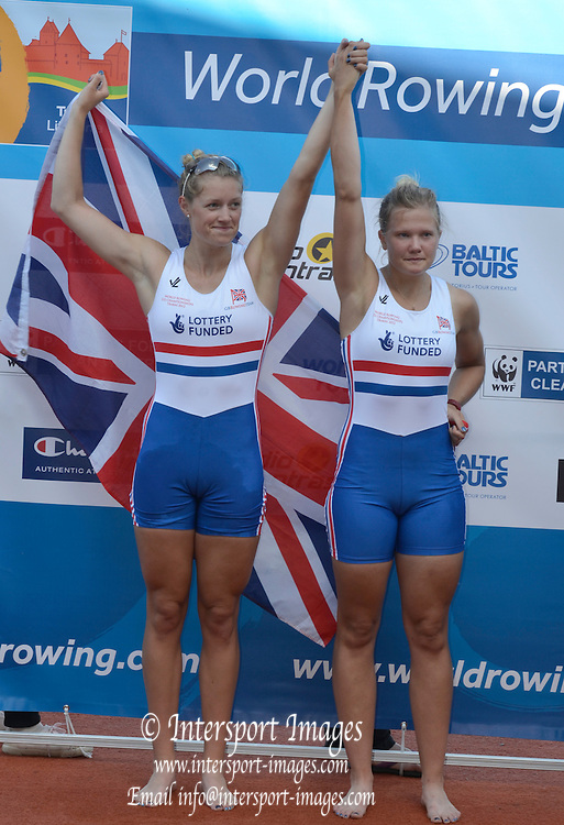 Trackai. LITHUANIA. ..GBR BW2- Bow Caragh MCMURTRY and Olivia CARNEGIE-BROWN silver medalist in the women's pair.2012 FISA U23 World Rowing Championships. ..17:24:07  Saturday  14/07/2012 [Mandatory Credit: Peter Spurrier/Intersport Images]..Rowing. 2012. U23.