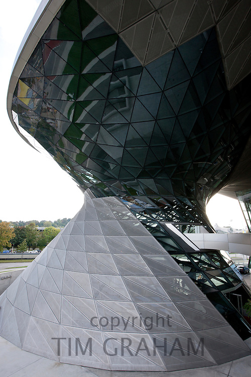 Modern architecture at the BMW Customer Collection and Showroom, at Headquarters in Munich, Bavaria, Germany
