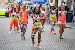 Zumba Carnival Troupe.   Carnival 2017 Adults' Parade.  Charlotte Amalie.  St. Thomas, USVI.  29 April 2017.  © Aisha-Zakiya Boyd