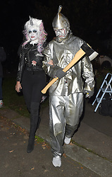 Celebrities attend an annual Halloween party, held at the Hampstead home of talk show host Jonathan Ross. 31 Oct 2017 Pictured: Holly Willoughby, Dan Baldwin. Photo credit: Will / Craig / MEGA TheMegaAgency.com +1 888 505 6342