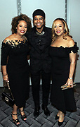 NEW YORK, NEW YORK- FEBRUARY 11: (L-R) Deryl McKissack Daniel (Honoree), Recording Artist Maxwell and Cheryl McKissack Daniel (Honoree) attend the National CARES Mentoring Movement 'FOR THE LOVE OF OUR CHILDREN' Gala Inside held at the Zeigfeld Ballroom on February 11, 2019 in New York City.  (Photo by Terrence Jennings/terrencejennings.com)