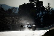 February 26, 2017: Circuit de Catalunya.  Romain Grosjean (FRA), Haas F1 Team, VF17 during the Pirelli wet weather tire test.