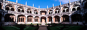 PORTUGAL, LISBON Mosteiro (Monastery) dos Jeronimos, 15thc, masterpiece of 'Manueline' architecture, spectacular cloister