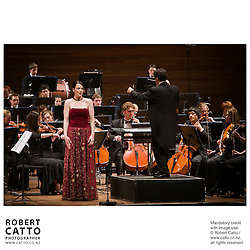 The New Zealand National Youth Orchestra perform a concert with soloist Madeleine Pierard and conductor Jacques Lacombe, at the Michael Fowler Centre in Wellington...Programme: .RAVEL Alborada del Gracioso.ROUSSEL Bacchus et Ariane Suite No 2.CANTELOUBE Chants DÕAuvergne.TABEA SQUIRE Feverdream (World Premiere).STRAVINSKY The Firebird Suite (1945)