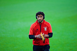 CARDIFF, WALES - Monday, October 9, 2017: Wales' captain Ashley Williams on the pitch before the 2018 FIFA World Cup Qualifying Group D match between Wales and Republic of Ireland at the Cardiff City Stadium. (Pic by Paul Greenwood/Propaganda)