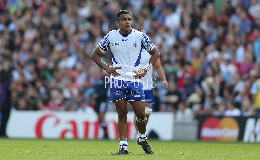 Samoa Rey Lee-Lo during the Rugby World Cup 2015 match between Samoa and USA at the Brighton Community Stadium, Falmer, United Kingdom on 20 September 2015.