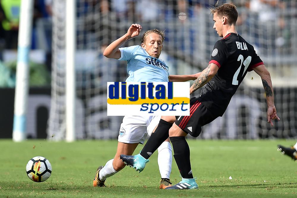Lucas Leiva Lazio, Lucas Bigli Milan <br /> Roma 10-09-2017 Stadio Olimpico Calcio Serie A 2017/2018 Lazio - Milan Foto Andrea Staccioli / Insidefoto