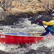 Whited Water Canoeing on the Millers River, Massachusetts