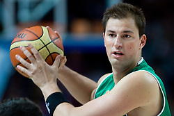 Primoz Brezec (7) of Slovenia during the basketball match at Preliminary Round of Eurobasket 2009 in Group C between Slovenia and Spain, on September 09, 2009 in Arena Torwar, Warsaw, Poland. Spain won 90:84 after overtime.  (Photo by Vid Ponikvar / Sportida)