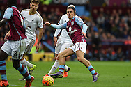 Jack Grealish of Aston Villa © in action. Barclays Premier league match, Aston Villa v Swansea city at Villa Park in Birmingham, the Midlands on Saturday 24th October 2015.<br /> pic by  Andrew Orchard, Andrew Orchard sports photography.