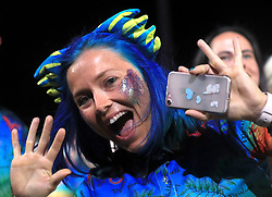 Member of team Wales Christie Williams during the Opening Ceremony for the 2018 Commonwealth Games at the Carrara Stadium in the Gold Coast, Australia.