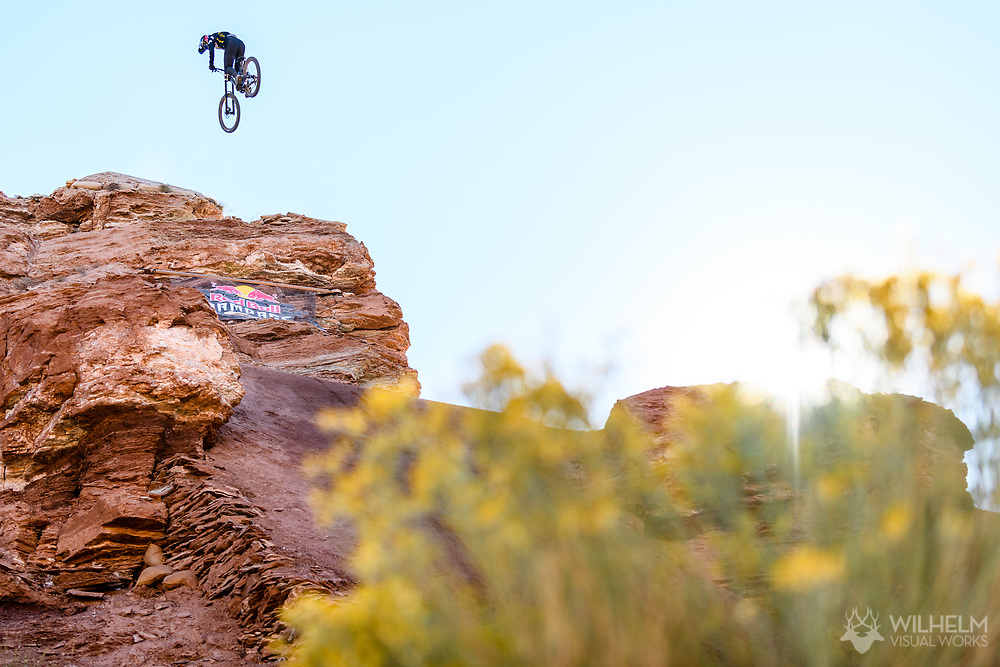 Carson Storch competes at the 2019 Red Bull Rampage in Virgin, UT. © Brett Wilhelm