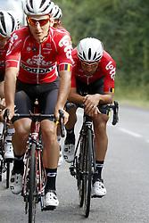 July 4, 2018 - Mouilleron Le Captif, France - MOUILLERON-LE-CAPTIF, FRANCE - JULY 4 : DE GENDT Thomas  (BEL)  of Lotto Soudal during a team reconnaissance of stage 1 prior the 105th edition of the 2018 Tour de France cycling race, a stage of 201 kms between Noirmoutier-en-l'Ile and Mouilleron-Le-Captif on July 04, 2018 in Mouilleron-Le-Captif, France, 4/07/18 ( Motordriver Kenny Verfaillie - Photo by Jan De Meuleneir / Photonews. (Credit Image: © Panoramic via ZUMA Press)