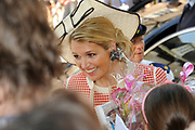 Beatrix opent tentoonstelling Máxima, 10 jaar in Nederland.//<br /> Queen Beatrix opens the exibition Maxima 10 years in the Netherlands<br /> <br /> Op de foto: Prinses Maxima / Princes Maxima