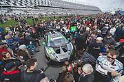 January 24-27, 2019. IMSA Weathertech Series ROLEX Daytona 24. #44 Magnus Racing Lamborghini Huracan GT3, GTD: John Potter, Andy Lally, Spencer Pumpelly, Marco Mapelli