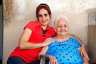 Woman with her grandmother in Gibara, Holguin, Cuba.
