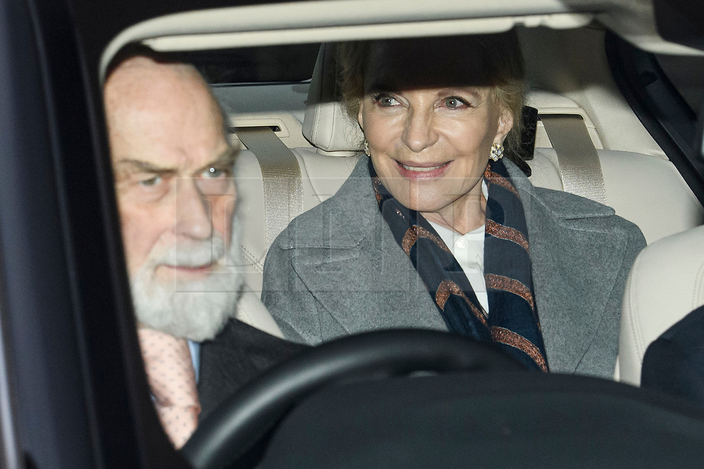 © Licensed to London News Pictures. 18/12/2019. London, UK. PRINCE MICHAEL OF KENT and PRINCESS MICHAEL OF KENT. Members of the Royal Family seen leaving Buckingham Palace in West London after attending the Queen's annual Christmas lunch. Photo credit: Ben Cawthra/LNP