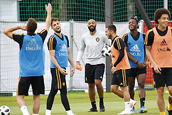 June 26, 2018 - Moscou, RUSSIE - MOSCOW, RUSSIA - JUNE 26 : Thierry Henry ass. coach of Belgian Team and Eden Hazard midfielder of Belgium and Michy Batshuayi forward of Belgium  during a training session as part of the preparation prior to the FIFA 2018 World Cup Russia group G phase match between Belgium and England at the Guchkova Sports center in Dedovsk on June 26, 2018 in Moscow, Russia, 26/06/2018 (Credit Image: © Panoramic via ZUMA Press)