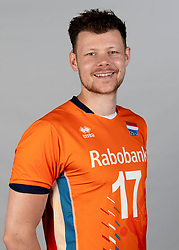 14-05-2018 NED: Team shoot Dutch volleyball team men, Arnhem<br /> Michaël Parkinson #17 of Netherlands