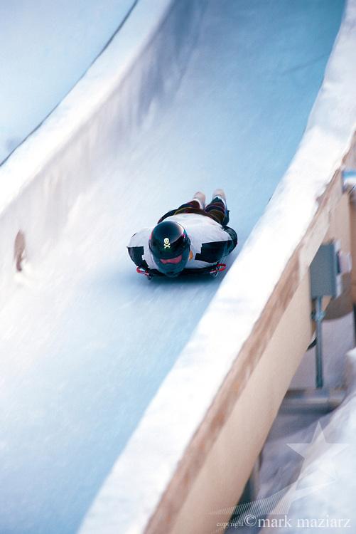 skeleton racing Utah Olympic Park, Park City, Utah