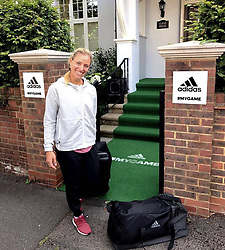 """Angelique Kerber releases a photo on Instagram with the following caption: """"Fully equipped for #Wimbledon @adidastennis \ud83c\udfbe\ud83e\udd17 #mygame #TeamAngie"""". Photo Credit: Instagram *** No USA Distribution *** For Editorial Use Only *** Not to be Published in Books or Photo Books ***  Please note: Fees charged by the agency are for the agency's services only, and do not, nor are they intended to, convey to the user any ownership of Copyright or License in the material. The agency does not claim any ownership including but not limited to Copyright or License in the attached material. By publishing this material you expressly agree to indemnify and to hold the agency and its directors, shareholders and employees harmless from any loss, claims, damages, demands, expenses (including legal fees), or any causes of action or allegation against the agency arising out of or connected in any way with publication of the material."""