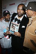 """l to r: Spike Lee, Londell McMillan, and Russell Simmons at The Russell Simmons and Spike Lee  co-hosted""""I AM C.H.A.N.G.E!"""" Get out the Vote Party presented by The Source Magazine and The HipHop Summit Action Network held at Home on October 30, 2008 in New York City"""