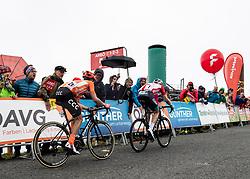 12.07.2019, Kitzbühel, AUT, Ö-Tour, Österreich Radrundfahrt, 6. Etappe, von Kitzbühel nach Kitzbüheler Horn (116,7 km), im Bild v.l. Riccardo Zoidl (AUT, CCC Team), Ben Hermans (BEL, Israel Cycling Academy) im roten Flyeralarm Trikot des Gesamtführenden der Österreich Rundfahrt // f.l. Riccardo Zoidl (AUT CCC Team) Ben Hermans of Belgium Team Israel Cycling Academy in the red Flyeralarm overall leaders jersey during 6th stage from Kitzbühel to Kitzbüheler Horn (116,7 km) of the 2019 Tour of Austria. Kitzbühel, Austria on 2019/07/12. EXPA Pictures © 2019, PhotoCredit: EXPA/ Reinhard Eisenbauer