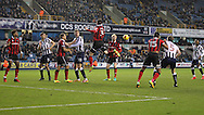 Harry Smith and Tony Craig of Millwall and  Matthew Sadler and Dominic Smith of Shrewsbury Town during the Sky Bet League 1 match at The Den, London<br /> Picture by Richard Brooks/Focus Images Ltd 07947656233<br /> 10/12/2016