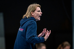 Coach Diane Rademaker of Eurosped in action during the league match Talentteam Papendal vs.  Eurosped on January 23, 2021 in Ede.