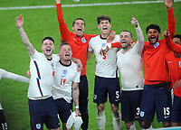 Football - UEFA 2021 European Championship Final - Semi-final - Denmark vs England - Wembley Stadium<br /> <br /> Declan Rice and Kalvin Phillips of England lead the celebrations<br /> <br /> Credit : COLORSPORT / Andrew Cowie