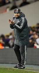 LONDON, ENGLAND - Wednesday, February 1, 2012: Liverpool's reserve team head coach Rodolfo Borrell during the NextGen Series Quarter-Final match against Tottenham Hotspur at White Hart Lane. (Pic by David Rawcliffe/Propaganda)