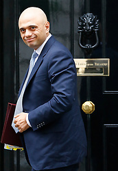 © Licensed to London News Pictures. 10/05/2016. London, UK. Secretary of State for Business,<br /> Innovation and Skills SAJID JAVID arrives at Number 10 Downing Street in Westminster, London for cabinet meeting. Photo credit: Tolga Akmen/LNP