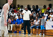 NORTH AUGUSTA, SC. July 10, 2019. MeanStreets coach at Nike Peach Jam in North Augusta, SC. <br /> NOTE TO USER: Mandatory Copyright Notice: Photo by Jon Lopez / Nike