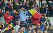 London, Great Britain,  General View of the stadium during the warmup and the national Anthems.   France vs Romania. 2015 Rugby World Cup, Pool D, venue. The Stadium Queen Elizabeth Olympic Park. Stratford. East London. England,, Wednesday  23/09/2015. <br /> [Mandatory Credit; Peter Spurrier/Intersport-images]