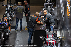 Harley Heaven Switzerland Harley-Davidson dealer display at the Swiss-Moto Customizing and Tuning Show. Zurich, Switzerland. Sunday, February 24, 2019. Photography ©2019 Michael Lichter.