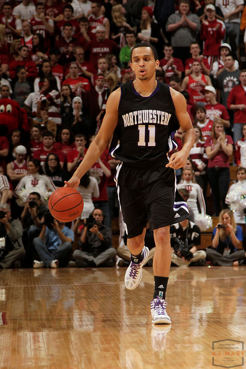 15 February 2012: Northwestern Wildcats guard Reggie Hearn (11) as the Indiana Hoosiers played the Northwestern Wildcats in a college basketball game in Blomington, Ind.