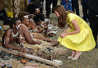 The Duke and Duchess of Cambridge attend a cultural event in Honiara, Solomon Islands, as part of their Diamond Jubilee Tour of South East Asia, on the 17th September 2012<br /> <br /> PICTURE BY JAMES WHATLING
