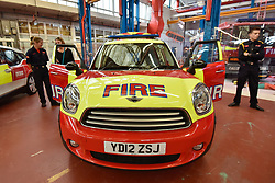 © Licensed to London News Pictures. 09/09/2017. London, UK. A Mini Countryman Initial Response vehicle, used during the 2012 London Olympics.  Visitors attend London Fire Brigade's annual Fire Engine Festival in Lambeth to see the earliest motorised fire engines still working, London Fire Brigade's brand new pump as well as being able to try on firefighter uniforms. Photo credit : Stephen Chung/LNP