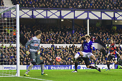 04.01.2014, Goodison Park, Liverpool, ENG, FA Cup, FC Everton vs Queens Park Rangers, 3. Runde, im Bild Everton's Nikica Jelavic scores the third goal against Queens Park Rangers // during the English FA Cup 3rd round match between Everton FC and Queens Park Rangers at the Goodison Park in Liverpool, Great Britain on 2014/01/04. EXPA Pictures © 2014, PhotoCredit: EXPA/ Propagandaphoto/ David Rawcliffe<br /> <br /> *****ATTENTION - OUT of ENG, GBR*****