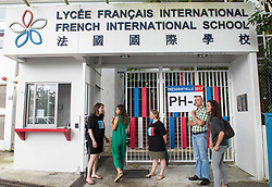 May 7, 2017 - Hong Kong, Hong Kong SAR, China - Expat French citizens turn up to vote at the French International school Hong Kong. With over 13000 registered voters, Hong Kong is an important voting site. (Credit Image: © Jayne Russell via ZUMA Wire)