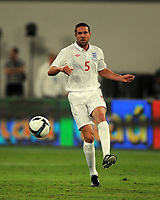 Khalifa Stadium Doha Brazil v England (1-0) 14/11/2009<br /> Matthew Upson  (England) <br /> Photo Roger Parker Fotosports International