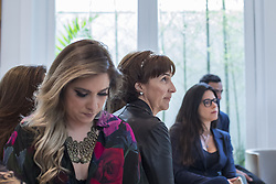 August 14, 2017 - Sao Paulo, Sao Paulo, Brazil - Aug, 2017 - Sao Paulo, Sao Paulo, Brazil - The Brazilian businesswoman, sister of three-time world champion Ayrton Senna and founder of the institute named after him, VIVIANE SENNA(center), during a luncheon between enterprising women in the city of Sao Paulo. (Credit Image: © Marcelo Chello/CJPress via ZUMA Wire)