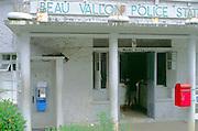 Local village police station at Beau Vallon, Mahe, Seychelles