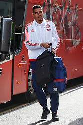 © Licensed to London News Pictures. 20/05/2016. London, UK. Manchester United player CHRIS SMALLING and the team arrive at their hotel in Wembley, London on Friday, 20 May 2016, ahead of the FA Cup final against Crystal Palace in Wembley Stadium. Photo credit: Tolga Akmen/LNP