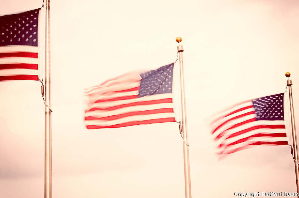 Flags at the Washington Monument