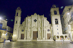 Baroque 1770s Cathedral Of Old Havana Plaza