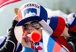 Supporters of Slovenia during the Ski Flying Hill Men's Team Competition at Day 3 of FIS Ski Jumping World Cup Final 2017, on March 25, 2017 in Planica, Slovenia. Photo by Vid Ponikvar / Sportida