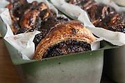Freshly baked Chocolate and poppy seed yeast cake